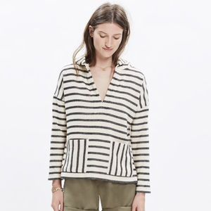 Madewell Striped Context Hoodie / Size XS